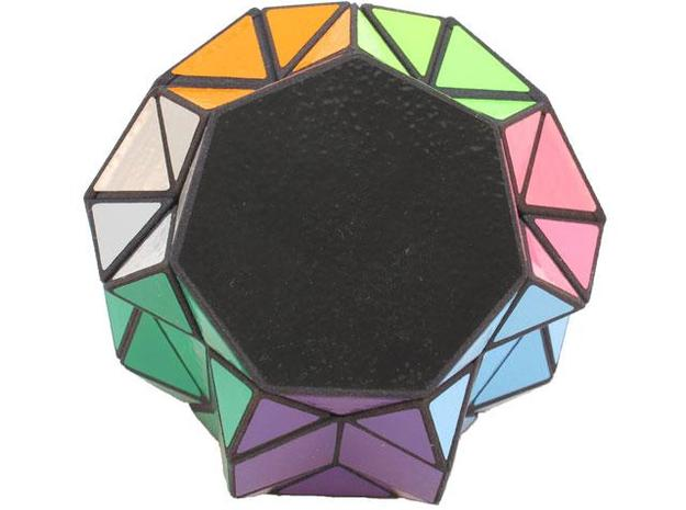 Septic Twist 3d printed Heptagon view