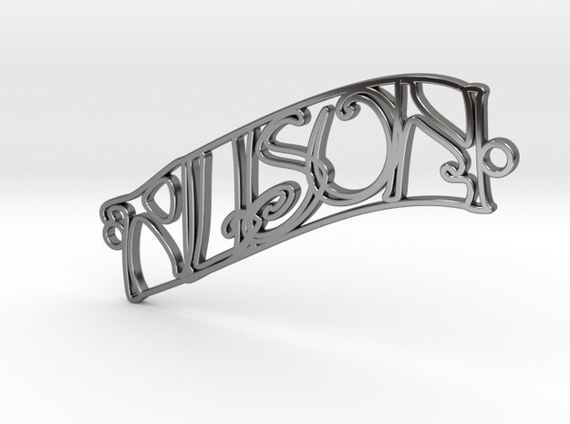 Personalised Name Necklace (003) in Fine Detail Polished Silver