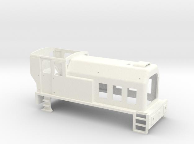 TS01 Diesel Shunter 0-4-0 Body in White Processed Versatile Plastic