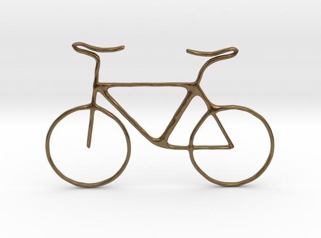bike pendant in Natural Bronze