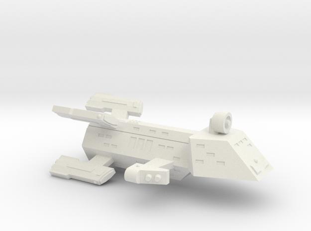 3788 Scale Kzinti Battle Frigate (BFF) SRZ in White Natural Versatile Plastic