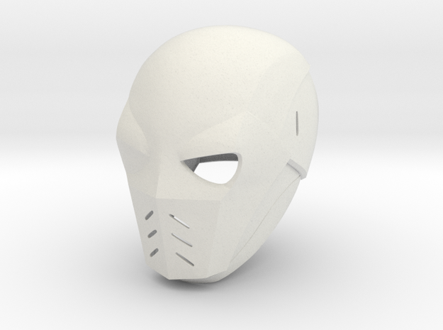 Deathstroke Arrow: Season 2 helmet with jaw piece in White Natural Versatile Plastic