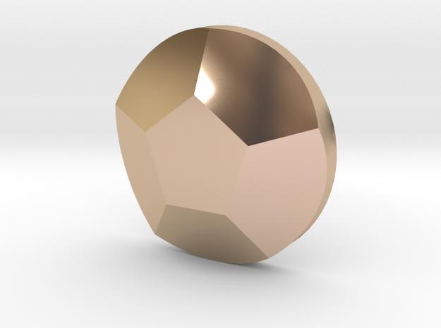 Rose Quartz Pendant in 14k Rose Gold Plated Brass