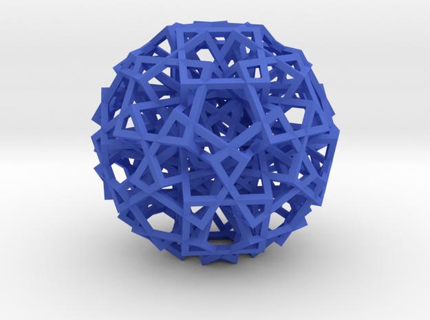 Cube Explosion in Blue Processed Versatile Plastic