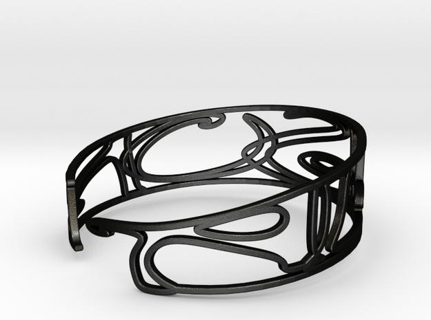 Personalised Name Bracelet (001) in Matte Black Steel