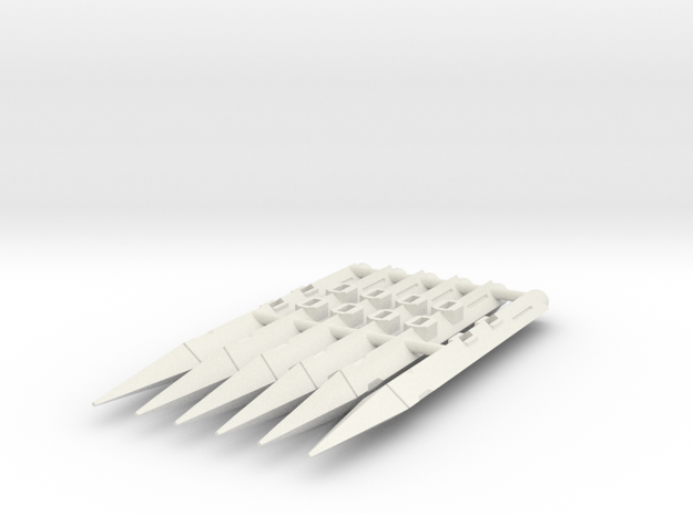 TMM-201 (6-pack) in White Natural Versatile Plastic