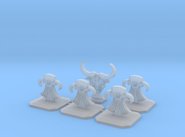 Evil Dwarf Topper / Token / Objective / Marker in Smooth Fine Detail Plastic