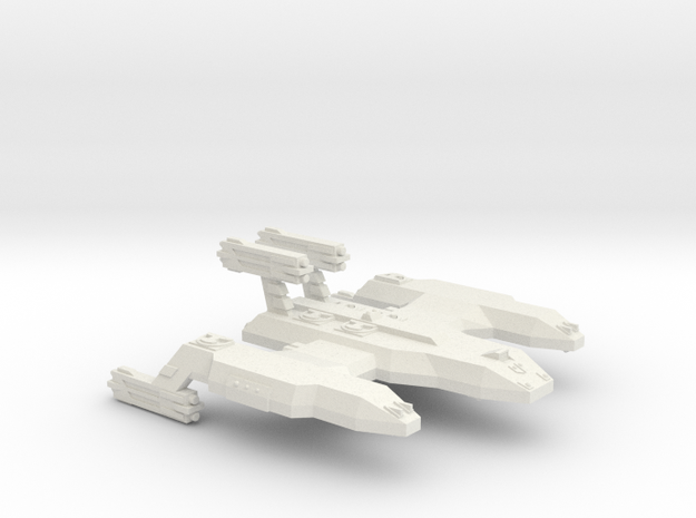 3788Scale Lyran Unrefitted Cave Lion Battleship in White Strong & Flexible
