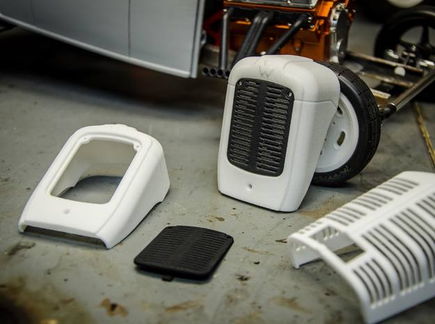 MF35 Tractor Grille (Shroud Section) in White Processed Versatile Plastic