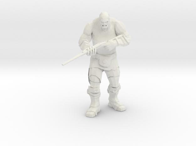 Mutant with Wasteland Shotgun in White Natural Versatile Plastic