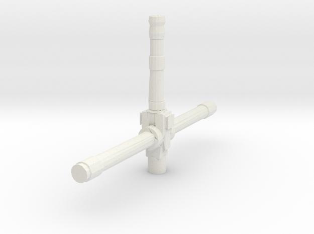 Derelict-Beacon Laser Turret  in White Natural Versatile Plastic