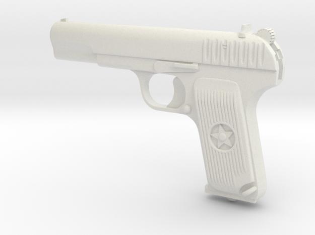 Tulsky Tokarev TT-33 in White Natural Versatile Plastic: Extra Small