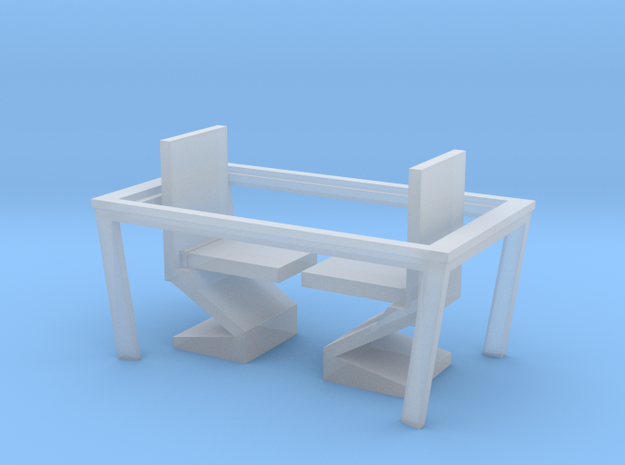 Nether Chair and Table Set in Smooth Fine Detail Plastic: 1:48 - O