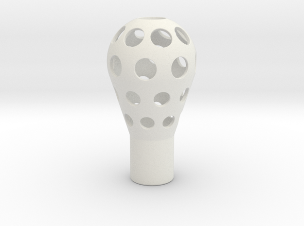 PORSCHE RACING - Gearshift knob in White Natural Versatile Plastic
