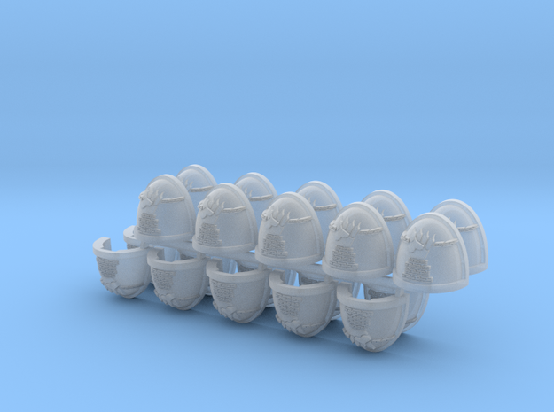 Commission 27 Shoulder Pads Mk7/8 #3 x20 in Smooth Fine Detail Plastic