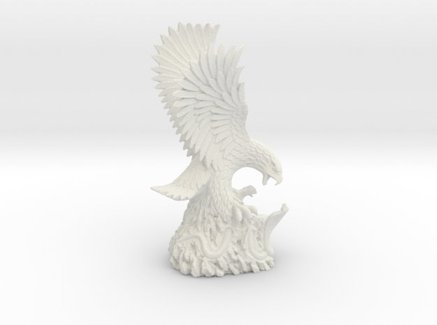 Eagle & Cobra Sculpture, Air Force Museum Vietnam in White Natural Versatile Plastic: Small