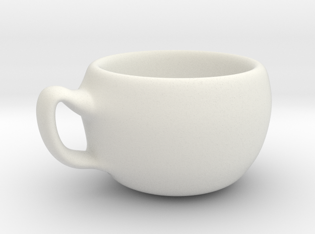 cup model A in White Natural Versatile Plastic
