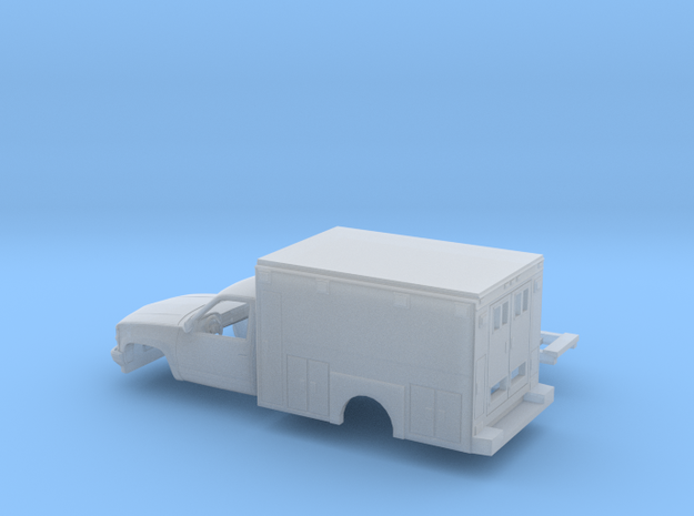 1/87 1990-98 Chevrolet Silverado RegCab Ambulance  in Smooth Fine Detail Plastic
