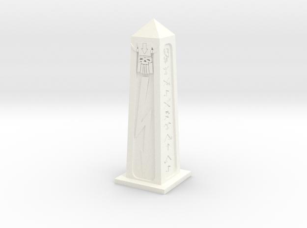 Evil Dwarf Obelisk in White Processed Versatile Plastic