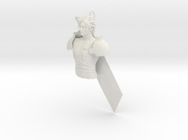 Soldier  in White Natural Versatile Plastic