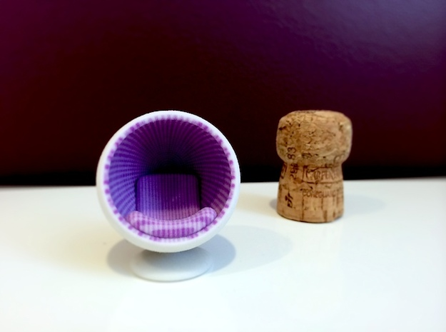 Bubble Chair: Purple & White Gingham (1:24 Scale) 3d printed