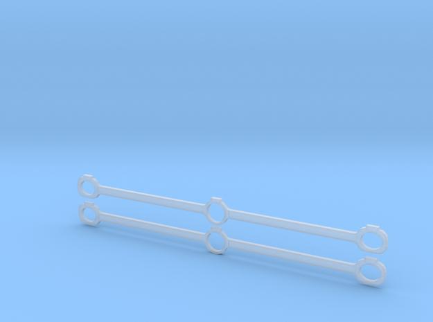 Gauge 1 NWR No 1 Side Rods in Smooth Fine Detail Plastic
