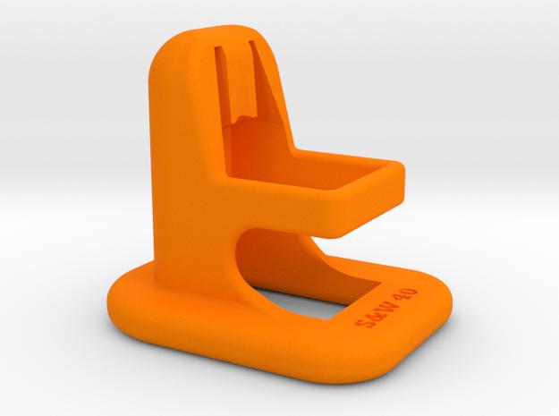EZ gun magazine clip Loader for S&W-40- in Orange Processed Versatile Plastic