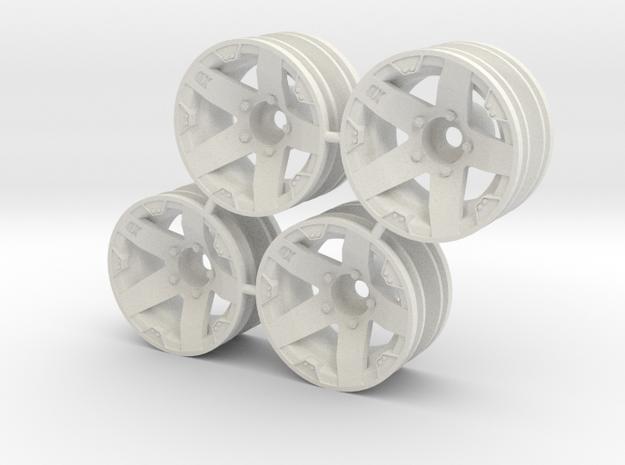 "Rim Rockstar 1/8"" offset - Losi McRC/Trekker in White Natural Versatile Plastic"