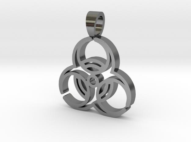 Biohazard [pendant] in Polished Silver