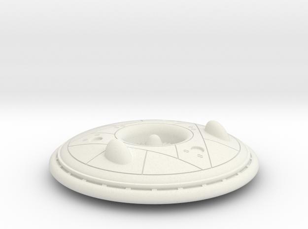 (1:144) Avro Canada VZ-9 Avrocar  in White Natural Versatile Plastic