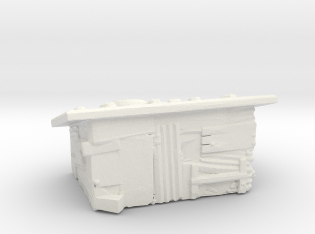 Tin slum 4  in White Natural Versatile Plastic