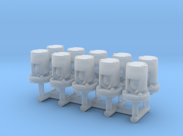 Winteb Air pipe heads_DN50_1:32 for damen ships in Smooth Fine Detail Plastic
