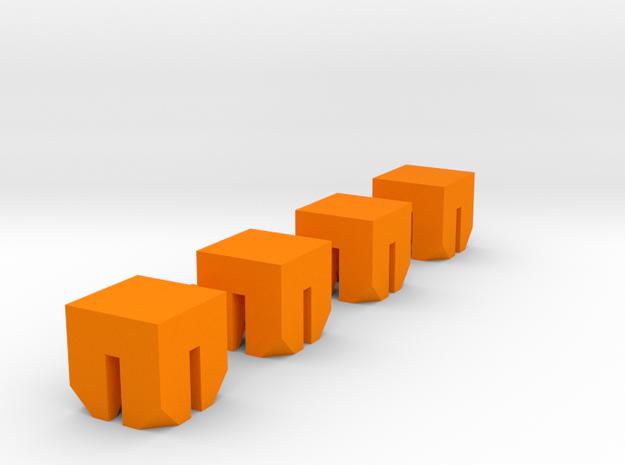 High Flex Ball Socket Sprue Small Scale in Orange Processed Versatile Plastic