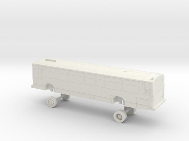 HO Scale Bus Gillig Phantom Westcat 100-111 in White Natural Versatile Plastic
