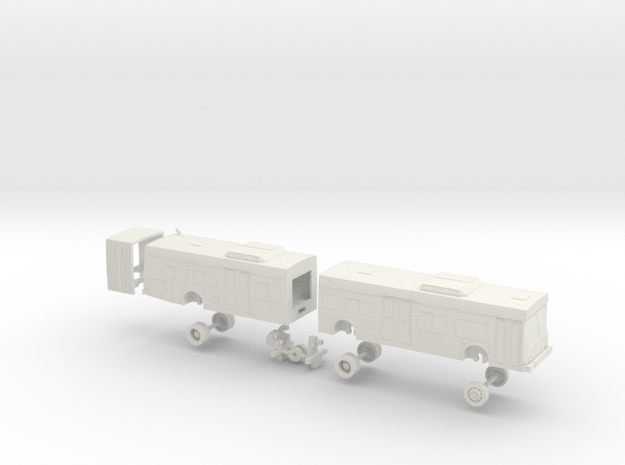 HO Scale Bus New Flyer D60LF MTS 1900s in White Natural Versatile Plastic