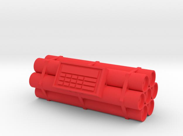 TNT dynamite bomb - 7 sticks - 1:2 scale