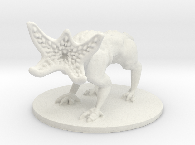 Demodog (Medium Monstrosity) in White Natural Versatile Plastic