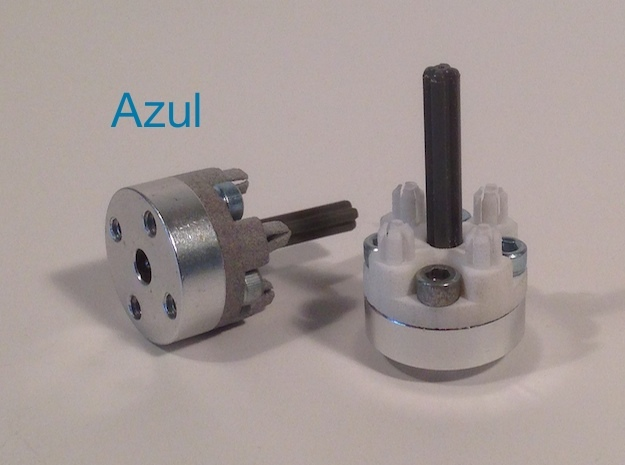 NXT Motor Shaft to Tetrix Coupler 3d printed Couplers attach with 6-32 screws and LEGO parts