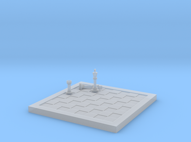1/18 Scale Chess Board Mid-game (v04) in Smooth Fine Detail Plastic