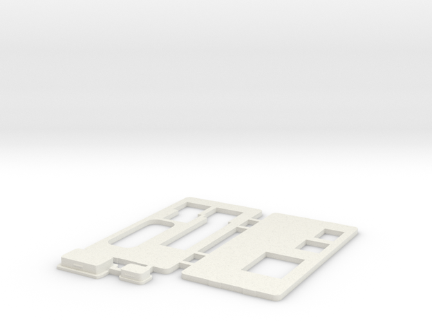MiSTer XS Case v5.x XS Front/Back/Plugs(3/4) in White Natural Versatile Plastic