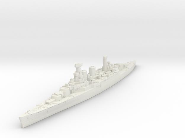 Admiral Class Battlecruiser (HMS Hood) in White Natural Versatile Plastic