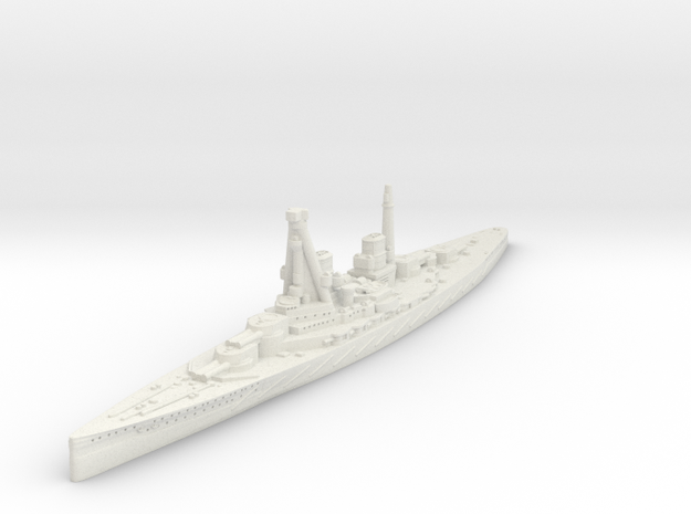 SMS Derfflinger Battlecruiser in White Natural Versatile Plastic