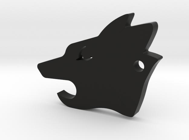 Howler Pup - Wolf Pack EDC in Black Natural Versatile Plastic