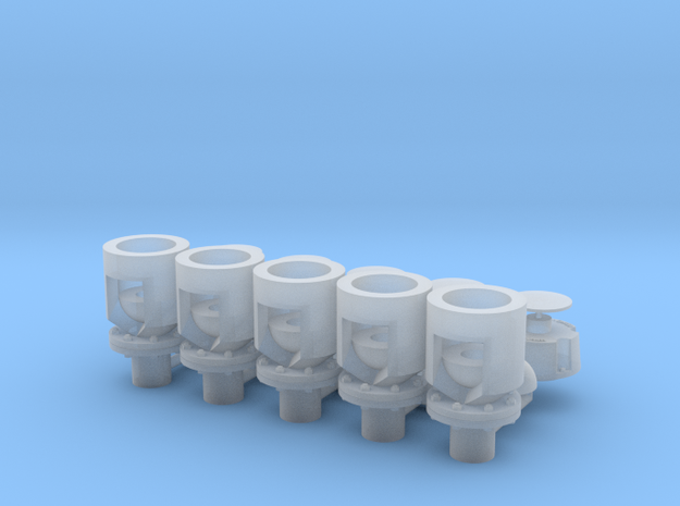Winteb Air pipe heads_DN150_1:32 for damen ships in Smooth Fine Detail Plastic