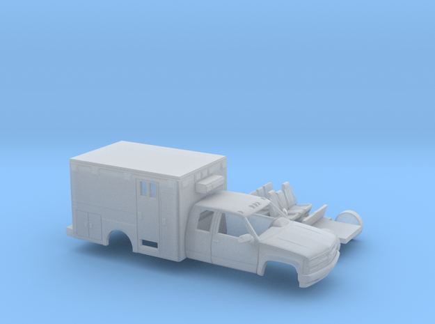 1/87 1990-98 Chevy Silverado ExtCab  Ambulance Kit in Smooth Fine Detail Plastic