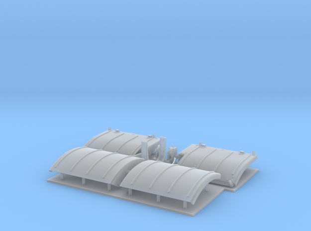 Panther D/A fenders for Dragon in Smooth Fine Detail Plastic