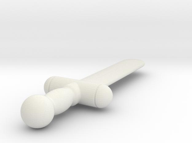 Mingles Sword (#111) in White Natural Versatile Plastic