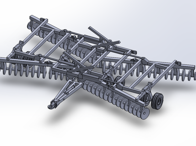 32' HD Double-Offset Folding Disc Harrow - Transpo in Smoothest Fine Detail Plastic