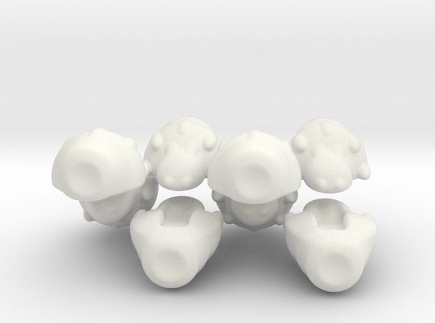 The alien reconaissance fleet in White Natural Versatile Plastic