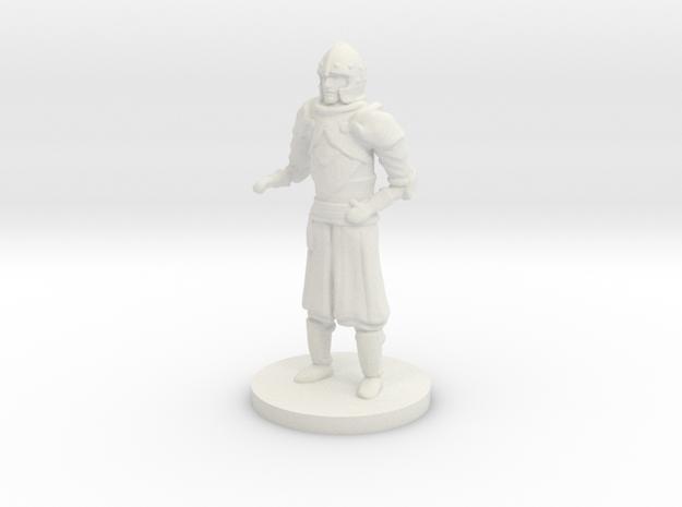 Human Guard Unarmed in White Natural Versatile Plastic